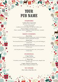 christmas hall and woodhouse christmas food menu artwork £120