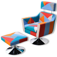 <b>TV Armchair with</b> Patchwork Design Fabric