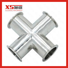 China <b>SS304 Stainless Steel Sanitary</b> Clamping Cross - China ...