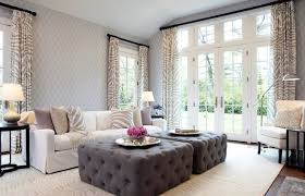 chic lilac and grey living room with schumacher tracery wallpaper in wisteria accented with braemore zebra print fabric curtains on oil rubbed bronze chic zebra print rug