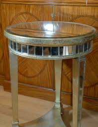 pair round top art deco mirrored side tables ebay art deco mirrored furniture