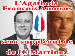 Agde - <b>Francois Amoros</b> sera le suppléant Agathois de Jean Claude Martinez <b>...</b> - ar_1937