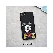 Cute Cartoon Mickey Minnie Mouse Strike Glass ... - Amazon.com