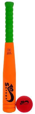 Safsof Игровой набор <b>Бейсбольная бита</b> и мяч цвет <b>оранжевый</b> ...