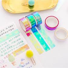 Korean Version of <b>Colorful</b> Decorative <b>Waterproof</b> Tape <b>Student</b> ...