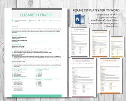 unique 3 in 1 word resume template resume templates on creative simple resume template word format