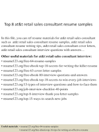 top at t retail s consultant resume samples