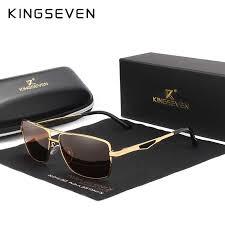 <b>KINGSEVEN</b> Brand Designer Men's Aluminum Magnesium Sun ...