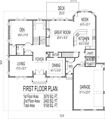 Small Picture 5000 sq ft House Floor Plans 5 Bedroom 2 story Designs Blueprints