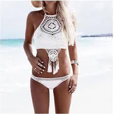 Bikini <b>2019</b> knitting Swimsuit <b>Crochet Bikini</b> Bohemia Style Off ...