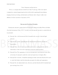 principles of the bureaucratic structure case study docx acircmiddot bureaucratic structures essay 4 docx