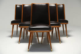 a set of six art deco style dining chairs 2 art deco mid century dining