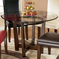 ashley furniture kitchen tables: signature design by ashley charrell round glass top table