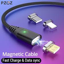 PZOZ 1M 2M <b>Magnetic</b> Cable Micro <b>usb Type C</b> Fast Charging ...