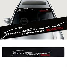 <b>Front Rear</b> Windshield Decal <b>Auto Car Styling</b> Window Sticker Black ...