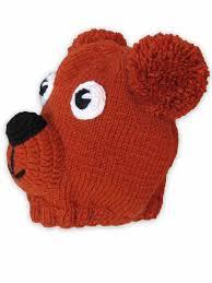 Вязаная коричневая детская шапка <b>мишка</b> - <b>Caps</b>-004-<b>Bear</b>