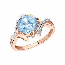 Золотые <b>кольца с топазом</b> — купить недорого в интернет ...