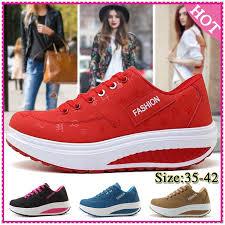 <b>Lady</b> Fitness Sport Breathable Casual Platform Sneakers <b>Plus Size</b> ...