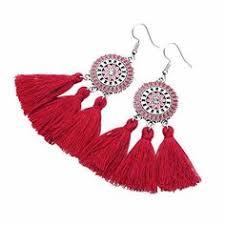 Earrings for women <b>Bohemian style Thread</b> tassel earrings Dangle ...