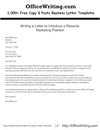 writing a letter to introduce a resume marketing position over writing a letter to introduce a resume marketing position over 3000 copy and