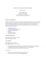 sample resume for retail sales associate  seangarrette cosample resume for retail