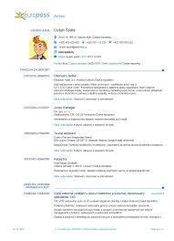 cv in format europass online sample service resume cv in format europass online cv europass sterreich cv europass 20151020 scaronp225 ta cs bez