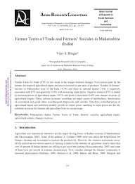 (pdf) farmer terms of trade and farmers' suicides in maharashtra (india)