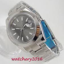<b>39mm Bliger Grey Dial</b> Sapphire Glass No Logo Mens Wristwatches ...