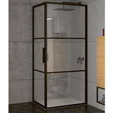<b>Душевой уголок Riho Grid</b> 90x90 профиль черный стекло ...