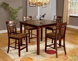cherry counter height piece: height  montclair ii transitional dark cherry counter height dining set with padded microfiber seat cmpt