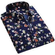 <b>Casual</b> Floral <b>Print</b> Slim Fit Long Sleeve <b>Mens</b> Shirt //Price: $19.98 ...