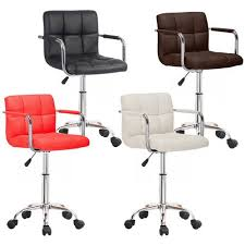 OFFICE <b>CHAIR FAUX LEATHER</b> BAR STOOLS WHEELS STOOL ...