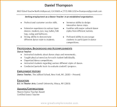 dance teacher resume worker resume dance teacher resume great resume examples dance teacher jpg