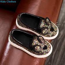 Casual Sequins baby Girl Shoes Cartoon Mouse <b>Children's</b> Shoes ...