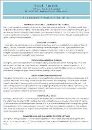ksas sample   knowledge  skills  abilitiesentry resume sample