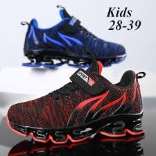 Kids <b>Breathable</b> Knit Sports Shoes <b>Blade</b> Sole Running Shoes for ...