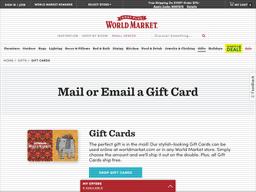 Cost Plus World Market | Gift Card Balance Check | Balance Enquiry ...