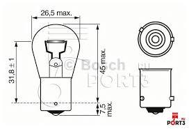 <b>PY21W Лампа BOSCH</b> (Бош) - описание, фото, аналоги