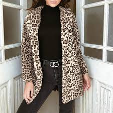 2019 <b>Winter</b> Women Leopard Print Fluffy <b>Fleece</b> Coat <b>2018</b> Newest ...