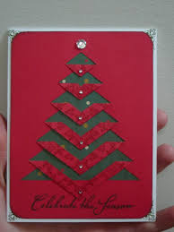 handmade christmas card clean and simple cut and folded handmade christmas cards