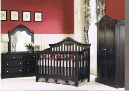 adorable baby dark furntiure sets for nursery in classic design finished in black color from solid adorable nursery furniture