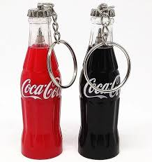 <b>New Hot</b> Coca - Cola Bottle Shape <b>Portable</b> Key Ring Ball - Point Pen