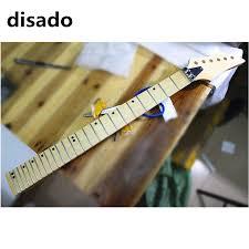 disado 22 frets big reverse headstock maple electric guitar neck scallop fretboard no paint guitar accessories parts