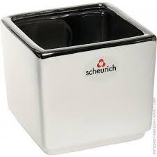 ᐈ Купить SCHEURICH <b>Кашпо керамическое Mirror</b> Cube silver ...
