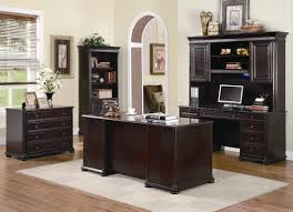 rich dark brown finish classic office desk woptional items brown finish home office