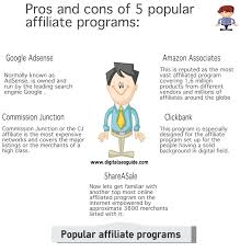 5 popular affiliate programs and their pros and cons digital seo cons of google adsense program