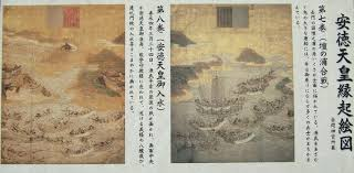 「1185年- 壇ノ浦の戦い。平氏一門が滅亡。」の画像検索結果