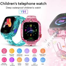 <b>Y91</b> Children's <b>Smart Watch</b> Transparent Explosion-proof ...