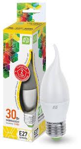 Лампа <b>светодиодная</b> ASD <b>LED</b>-<b>СВЕЧА</b> НА ВЕТРУ-STD 3000K ...
