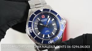 <b>Swiss Military Hanowa</b> Nautila Gents 06-5296.04.003 - YouTube